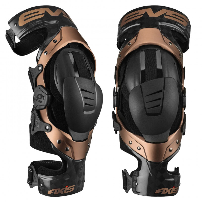EVS KNEE BRACE AXIS-PRO BLACK-COPPER PAIRE